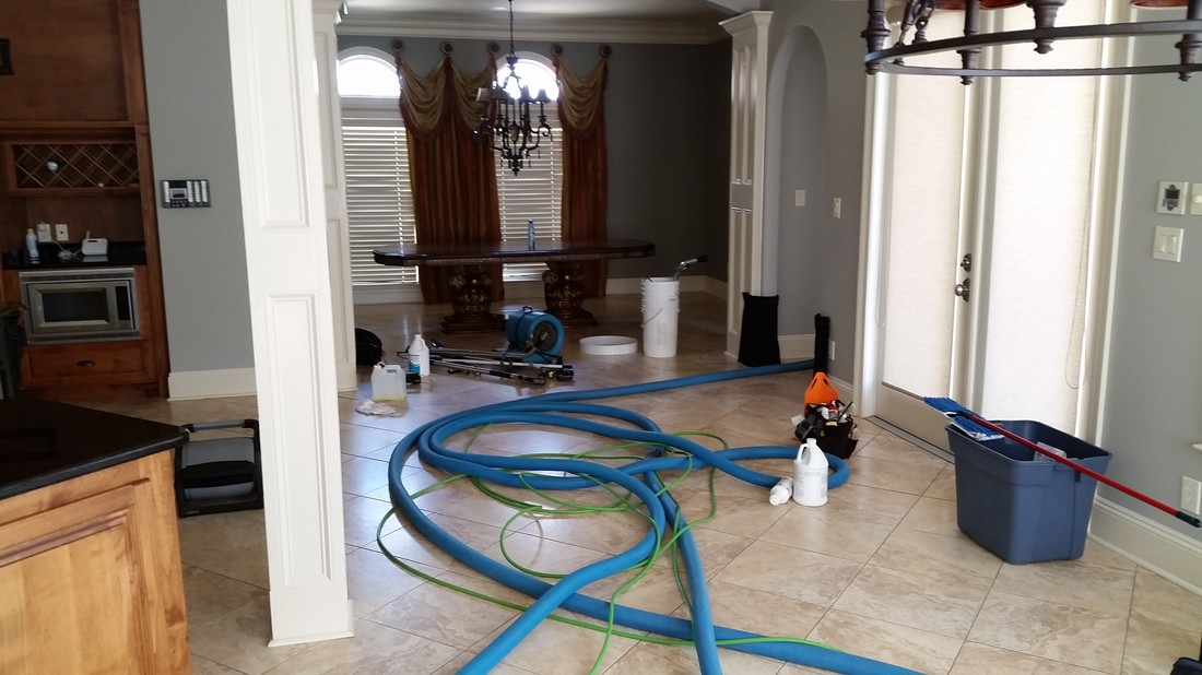 Picture of some of the equipment used by Absolutely Kleen to clean tile and grout