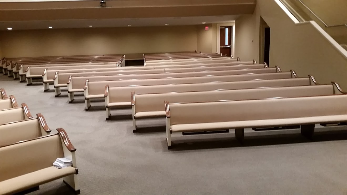 Picture of carpets cleaning in the sanctuary at Eastern Shore Baptist by Absolutely Kleen