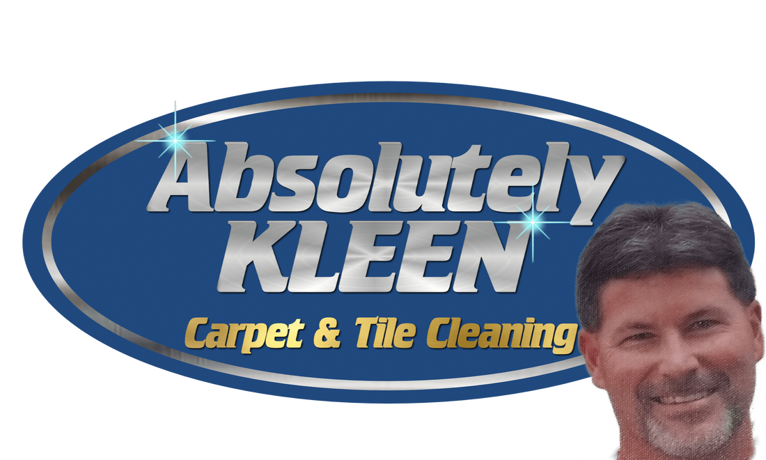 Picture of Logo for Absolutely Kleen with a picture of the owners face beside it