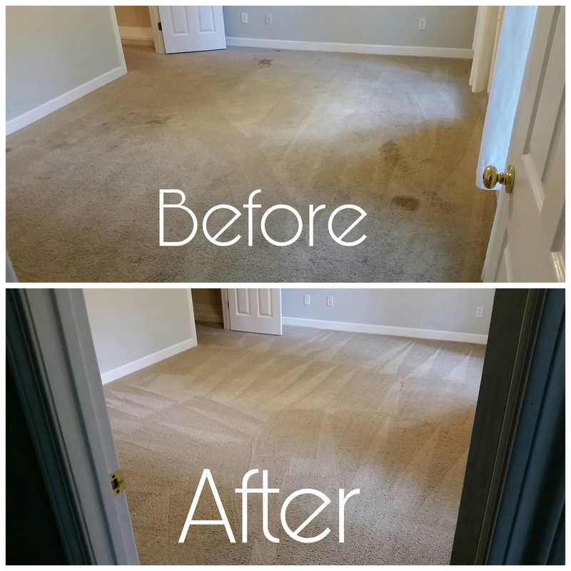Before and after picture of carpet cleaning in a master bedroom in Daphne, AL. by Absolutely kleen