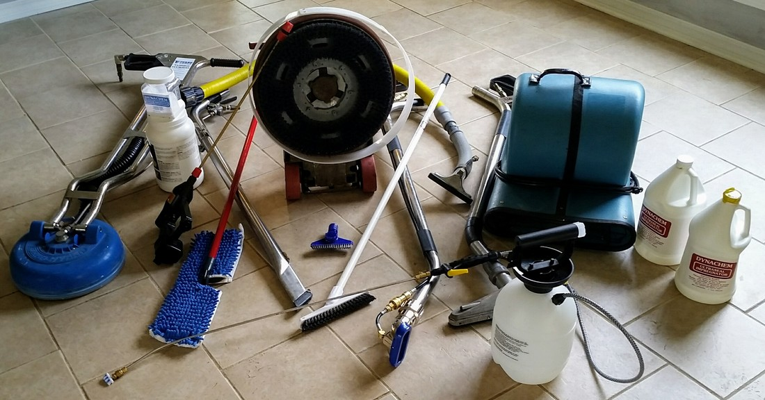 Picture of tile and grout cleaning equipment used by Absolutely Kleen